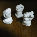 子供たちの手形