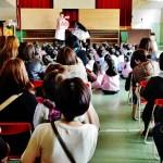 幼稚園での歯磨き指導